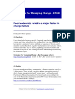 Strategies for Managing Change - EZINE - Poor Leadership