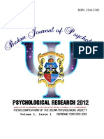 The Bedan Journal of Psychology   2013