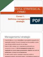 Managementul Strategic Al Firmei