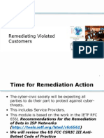 015 - Remediating Violated Customers - 2012-10-21-A