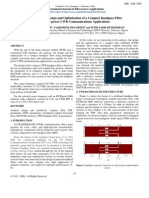 FEM Analysis, Design and Optimization of a Compact Bandpass Filter for Low-power UWB Communications Applications