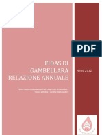 Relazione donazioni 2013 - Gruppo Fidas Gambellara