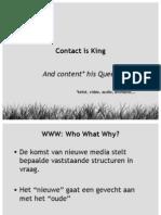 xios - journalistiek & nieuwe media - les 2 - contact & content is king