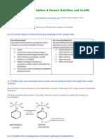 IB Biology, Human Health & Nutrition Notes