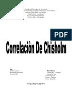 Correlacion de Chisholm.