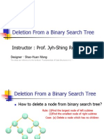 Deletion From a Binary Search Tree