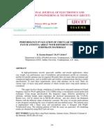 Performance Evaluation of Circular Microstrip