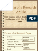Format of A Research Paper