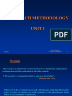 Research Methodology Lecture PPTS Unit I