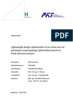 Lightweight design optimizaton of an urban eco car prototype using topology optimization based on finite element analysis