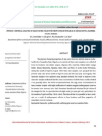 Physico- Chemical Analysis of Rain Water Collected From 10 Selected Areas in Awka South, Anambra State, Nigeria