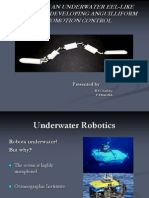 Designing an Underwater Eel-like Robot and Developing Anguilliform