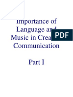 Microsoft Word - Importance of Language and Music in Creative Communication
