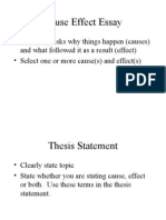 5 paragraph essay Cause and Effect exercise and research