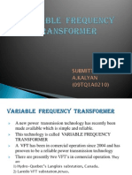 variable frequency transformer ppt
