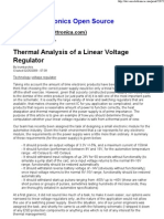 Thermal Analysis of a Linear Voltage Regulator