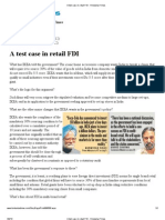 A Test Case in Retail FDI - Hindustan Times