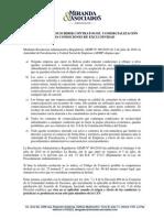 Prohibicion de Suscribir Contratos de Comercializacion