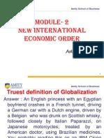 Module 2-Globalisation of World Economy and Business