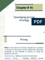 Mkt Mgt # chap16 Pricing