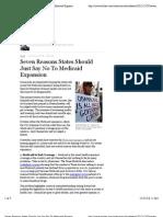 Seven Reasons States Should Just Say No to Medicaid Expansion