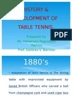 History & Development of Table Tennis