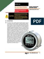 Altronic DSG1611DUPS Gauge Install. - Oper. Instructions (FORM DSG1611DUPS II)