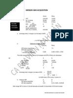 Solution MERGER & ACQUISITION, CA-FINAL-SFM by CA PRAVINN MAHAJAN
