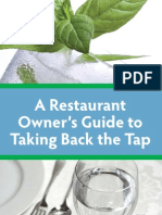 A Restaurant Owner's Guide to Taking Back the Tap