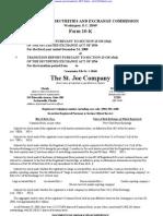 ST JOE CO 10-K (Annual Reports) 2009-02-24