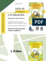 """Presentación del libro """"La filosofía de Lipman y la educación"""""""