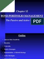 Chapter 12 Bond Portfolio Mgmt