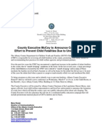 Media Advisory on the dangers of unsafe sleeping press conference