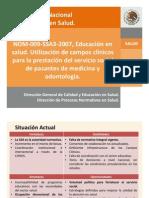 3er Seminario Nac. de Educ. en Salud NOM 009 Campos Clinicos