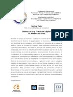 Democracia y Fractura Digital