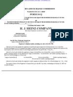 HEINZ H J CO 10-Q (Quarterly Reports) 2009-02-24