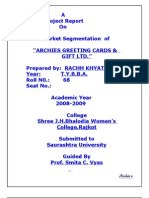 61699951 Archich Griting Cards Cr MBA Porject Report Prince Dudhatra