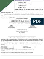 RFI TECHNOLOGIES, INC. 10-Q (Quarterly Reports) 2009-02-24