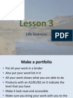 Lesson 3 Life Sciences