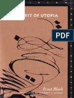 Bloch Ernst Spirit Utopia