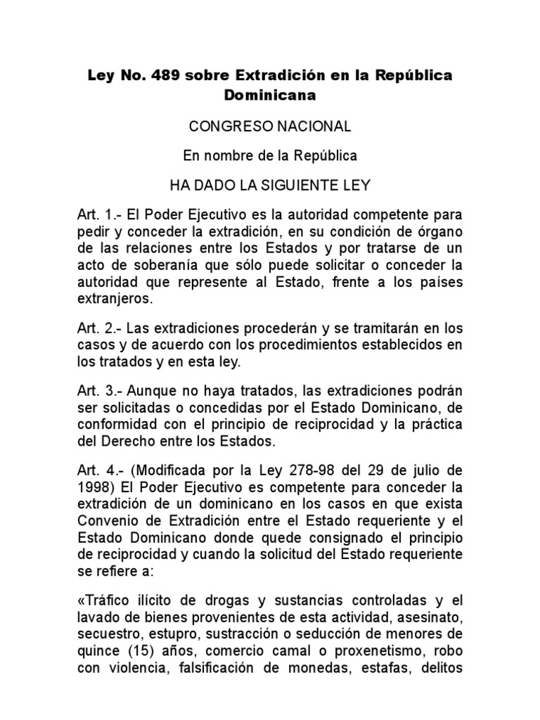 Republica dominicana 136-03 pdf ley