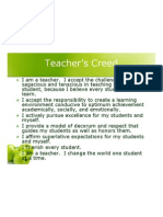 Teachers Creed