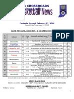 HCC - Basketball, Boys - Standings & Leaders (2.24.2009)