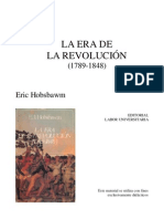 HOBSBAWM. La Era de Las Revoluciones
