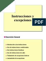 4.- Instrucciones y Excepciones