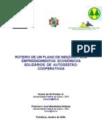 Roteiro de Um Plano de Negocio Para Empreendimentos Economicos Solidarios de Autogestao Cooperativas