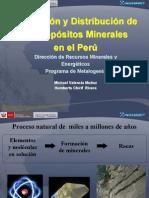 Formacion de Yacimientos Minerales en El Peru
