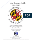 University of Maryland Teaching Resource Guide 2011-2012