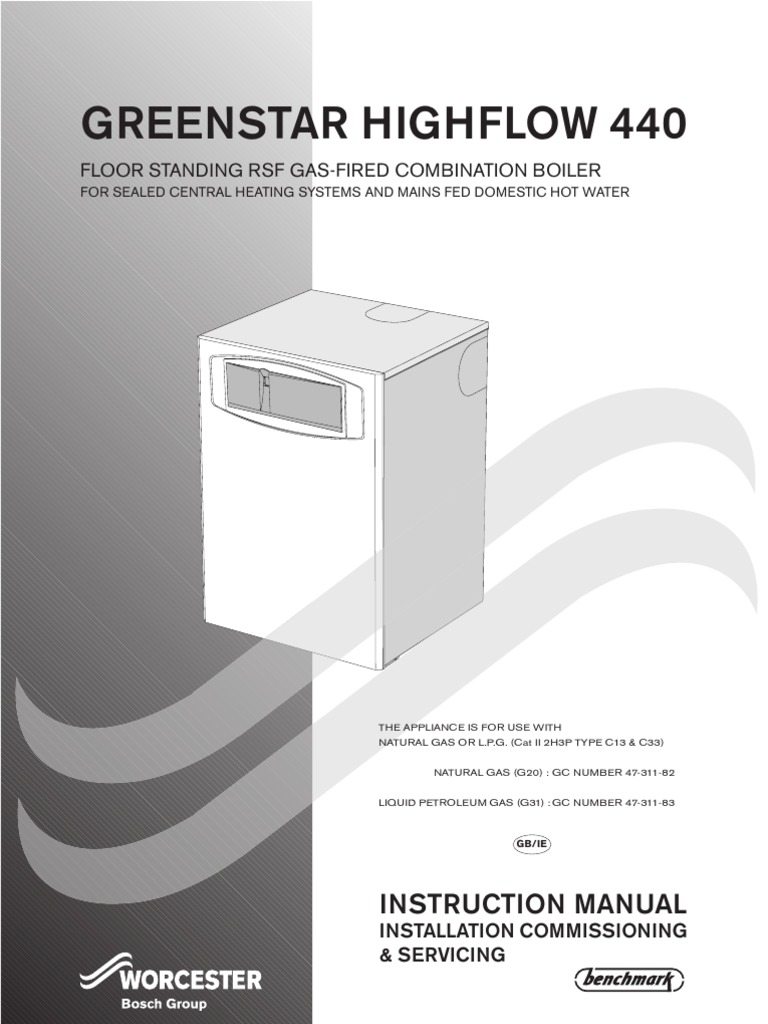 Installation and Servicing Instructions for Greenstar Highflow 440 ...