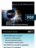 ANSYS Solution to the Electronics Industry